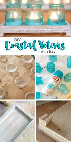 SO Pretty! DIY - Coastal Votives with tray