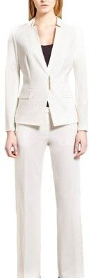 Calvin-Klein-Inverted-Collar-Pant-Suit-with-Metal-Clasp-4-Cream-0