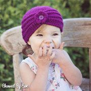 The Textured Turban was one of the first hat patterns I ever designed and I'm still in love with it today. Simple and quick to make, yet stylish for little ones