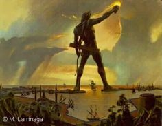 The Colossus of Rhodes, the way it might have looked.