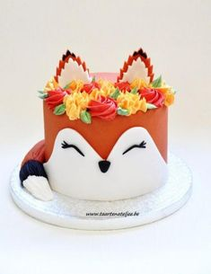 Fox cake for children& birthday. - Recipes & food inspiration for children . - Fox cake for children& birthday. – Recipes & Food Inspirations for Children – - Pretty Cakes, Cute Cakes, Cake Cookies, Cupcake Cakes, 3d Cakes, Pink Cakes, Sweets Cake, Baking Cupcakes, Fondant Cakes