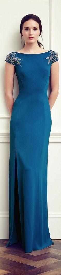 Jenny Packham Resort 2015 blue maxi dress @roressclothes closet ideas #women fashion outfit #clothing style apparel