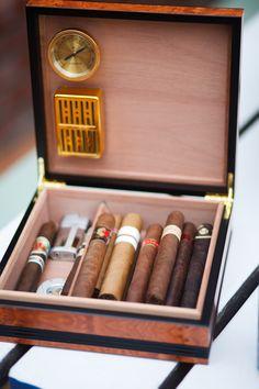Malibu Beach Wedding - Cigars