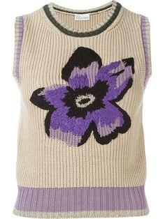 Купить Red Valentino flower intarsia knit top в Vitkac from the world's best independent boutiques at farfetch.com. 400 бутиков, 1 адрес. .