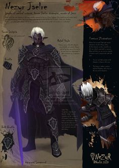 Nezyr Jaelre by ~NezyrWorks on deviantART #drow #fighter #magus