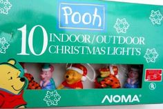 "Winnie the Pooh 10 Indoor/outdoor Christmas Lights  10 colorful lights all #Winnie the Pooh characters.  Features : U.L. listed for #indoor/outdoor use. *Flashing or steady-burning lights. *If one bulb goes out -other remain lighted. *Replacement bulbs and fuse included. *8 spacing between bulbs. "" Color : Pink"