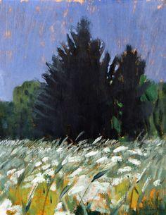 Otto Mäkilä (Finland 1904-1955) Fields (1946)  oil on canvas 32 x 25 cm