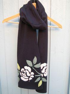 Alabama Chanin reverse applique scarf