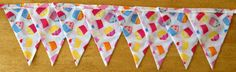 Cupcake Fabric Bunting by MollyFelicityDesigns on Etsy, £10.00