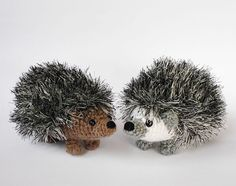 Realistic European pymgy hedgehog crocheted toy by LunasCrafts, $20.00