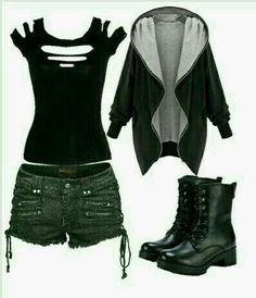 grunge outfits / fille stylé / moda donna - The Lucky Boy - Fashion Grunge Gothic Outfits, Grunge Outfits, Fashion Outfits, Hipster Outfits, Hipster Clothing, Punk Rock Outfits, Cosplay Dress, Character Outfits, Mode Inspiration