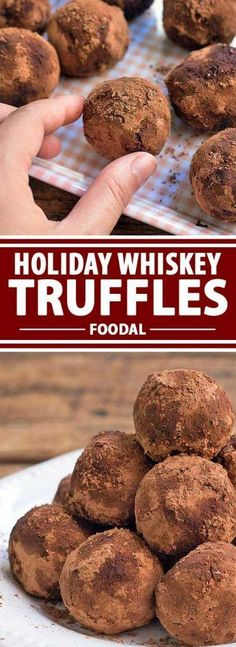 These whiskey truffles are rich and decadent, perfect for those of you who love whiskey. Soft on the inside, with a hint of whiskey flavor and a coating of cocoa powder, these truffles won�t last very long on the table. Use your favorite #glutenfree vanilla wafers to make this low #FODMAP