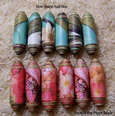 This Paper Bead Template Large focal 3 sizes is just one of the custom, handmade pieces you'll find in our beads shops. Paper Beads Tutorial, Paper Beads Template, Make Paper Beads, Paper Bead Jewelry, Fabric Jewelry, How To Make Beads, Beaded Jewelry, Jewellery, Handmade Beads