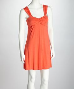 Take a look at this Orange Twisted Dress by Neesha on #zulily today!