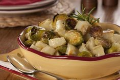 Roasted Idaho Potatoes and Brussels Sprouts | MrFood.com