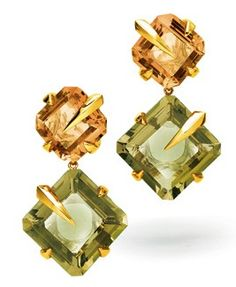 Tito Pedrini Artigli Quad Citrine Earrings