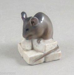 Royal Copenhagen Porcelain Mouse ON Unglazed Sugar Cubes 510 520 AF | eBay