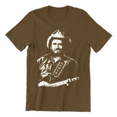 Merle Haggard T shirt Hand screen-printed Men's / Ladies / Fitted / Willie Nelson / Country Music / Johnny Cash by cottonpickincrazy on Etsy Willie Nelson T Shirts, Johnny Cash, Great T Shirts, Classic T Shirts, Green And Orange, Country Music, Printed, Long Sleeve Tees, Janis Joplin