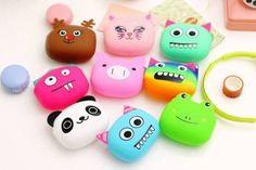ADORABLE MONSTER CHARACTERS SILICONE PURSES...GREAT VALENTINE'S GIFT!  These Pouch Purses Are Super Popular And So Worth To Own!  STARTING AT    67% OFF