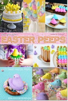 Creative Easter Peeps Ideas from Cakes to Centerpieces to Cupcakes in Mutli-colors