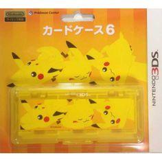 Pokemon Center 2013 Nintendo 3DS/DSiLL/DSi/DS Lite Snivy Pikachu Oshawott Tepig Game Cartridge Storage Case