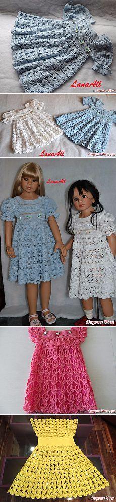 Бесподобное детское платье крючком*Перо Ангела*
