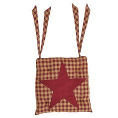 Burgundy Star Chair Pad 15 x 15 Colonial Chair, Chair Pads, Cushion Pads, Cushions On Sofa, Cotton Fabric, Burgundy, Reusable Tote Bags, Victorian, Stars
