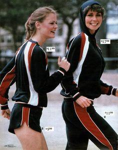 Fleece Warmups from a 1980 catalog #vintage #fashion #1980s