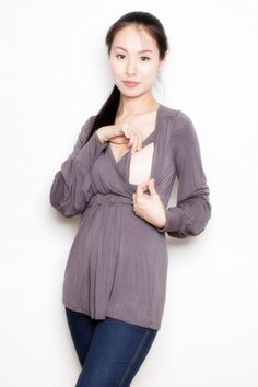 Annee Matthew Bella Bamboo Maternity And Nursing Top | Maternity Clothes  www.duematernity.com