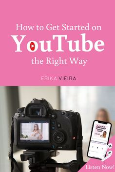 How to Get Started on YouTube the Right Way. Grow your Blog and your Business using YouTube. Erika Vieira The YouTube Power Hour Podcast. #ErikaVieira #YouTube #StartonYouTube #SocialMediaPodcast Start Youtube Channel, Video Channel, Vlogging Equipment, Building A Personal Brand, Blog Topics, Digital Marketing, Content Marketing, Instagram Tips, You Youtube