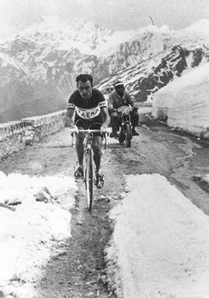 Charly Gaul, 1956 Giro D'Italia, Monte Bondone. -- I so miss the Giro. Please televise it in the US again or make it available for streaming. Please! The Tour of California sucks!