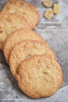 Candied #ginger cookies {copycat Tate's Ginger Zingers} | YankeeKitchenNinja.com