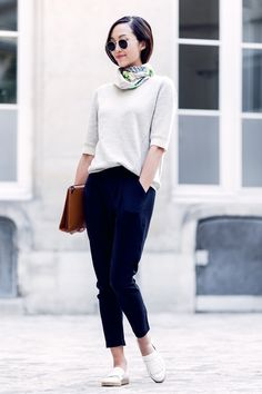 The French Effect - The Chriselle Factor - the top in particular, with black slacks and great shoes