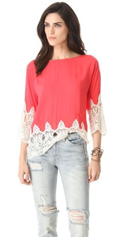 coral edged in lace