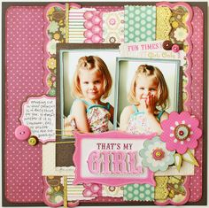 #papercraft #scrapbook #layout  That's My Girl *NEW My Mind's Eye* - Scrapbook.com