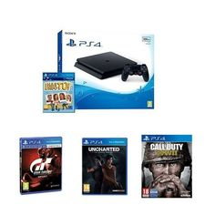 Gran oferta con motivo del #BlackFriday Pack PS4 500 GB + 4 juegos por 274,90€ (PVP +450€) http://amzn.to/2jc4pQb ¡¡Todo un regalazo!! Los juegos son: Voucher ¡Has Sido Tú! + Call Of Duty WWII + Gran Turismo Sport + Uncharted: El Legado Perdido