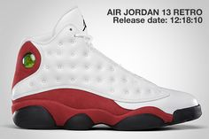 Air Jordan 13 White Red 2017 Release Date. The Air Jordan 13 Chicago that originally debuted in and later in 2010 will retro again this Spring 2017 Jordan 13, Michael Jordan, Jordan Xiii, Nike Air Jordan Retro, Air Jordan Shoes, Jordan Sneakers, Nike Sneakers, Nike Basketball Shoes, Running Shoes Nike