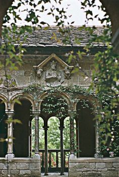 Stone Archways and greenery.