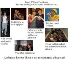 Louis Tomlinson funny guy One of the many reason I love Louis. I know I said that plenty of times but I love him more than he knows and more than anyone else can imagine. One Direction Humor, I Love One Direction, 0ne Direction, Direction Quotes, Falling In Love With Him, I Love Him, Zayn Malik, Niall Horan, No Kidding