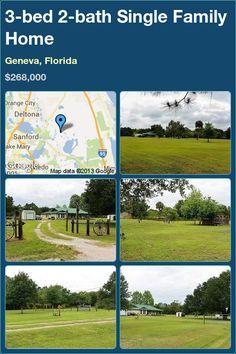 3-bed 2-bath Single Family Home in Geneva, Florida ►$268,000 #PropertyForSale #RealEstate #Florida http://florida-magic.com/properties/5220-single-family-home-for-sale-in-geneva-florida-with-3-bedroom-2-bathroom