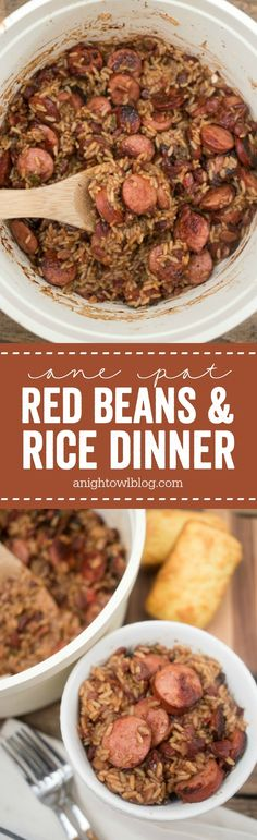 This Easy One Pot Red Beans and Rice Dinner is a family favorite that I can make in just 30 minutes! #nohasslesavorymeal #Pmedia #ad