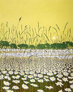 Philip Greenwood etching - daisy moon.