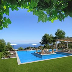 Large+pool+surrounded+by+grass+with+a+patio+island