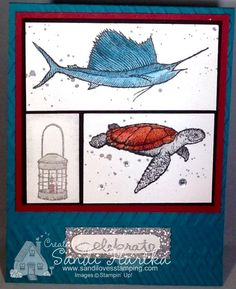 From Land to Sea, Stampin'Up!, birthday card, thank you card, thinking of you card, male card