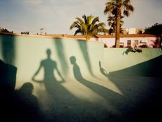 This reminds me of our Faux-Trot poolside shadow series, Janine!! Awwww... now I'm sad...