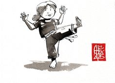 Illustration : Capoeira – 813 [ #capoeira #encre #illustration]