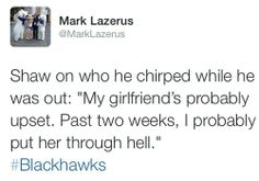 Haha, can totally see that. Had to keep his chirp game top notch