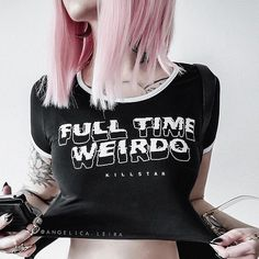 Weirdos; Full Time Crop Top | KILLSTAR