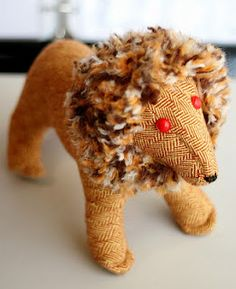 handwoven and handsewn lion