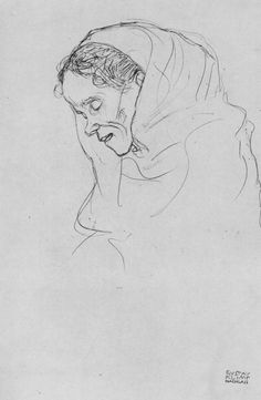 Густав Климт (Gustav Klimt работ) – me.pin-autos… – Keep up with the times. Gustav Klimt, Klimt Art, Woman Sketch, Woman Drawing, Painting & Drawing, Line Drawing, Art Nouveau, Franz Josef I, Portrait